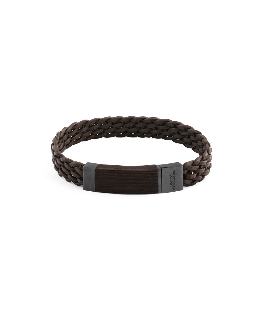 Image for Madera braided italian leather bracelet