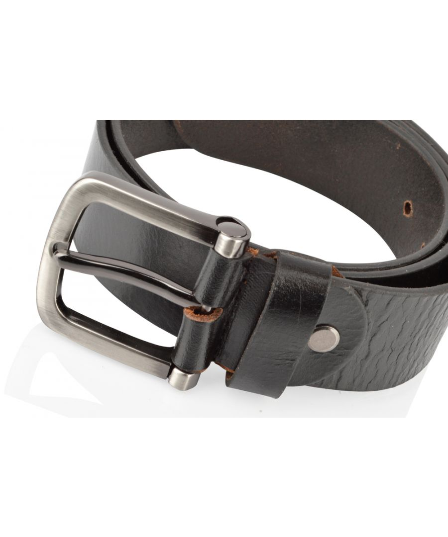 Image for Mens Classic Black Jean Belt 38mm