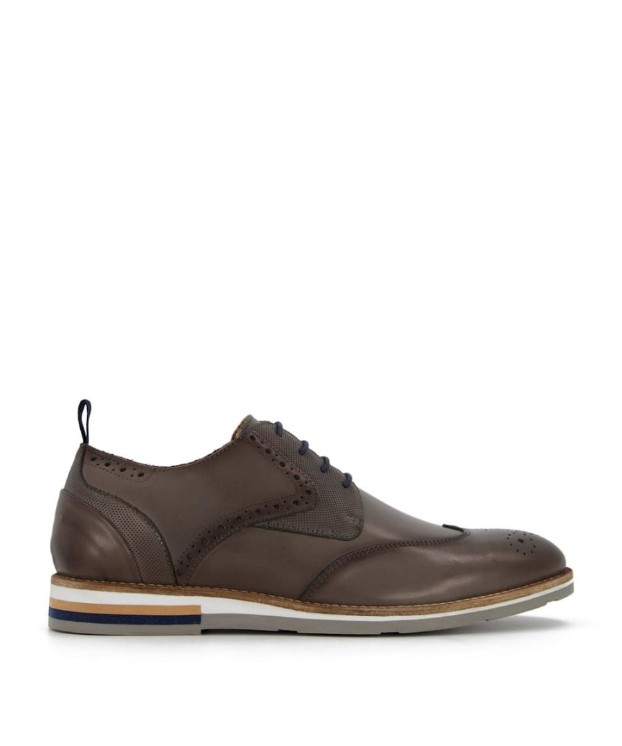 Image for Bertie Mens BLACKHEATH Wedge Sole Brogue Shoes