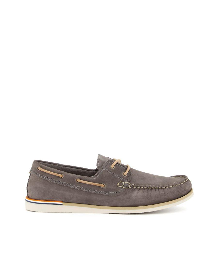Image for Dune Mens BLAINES Nubuck Boat Shoes