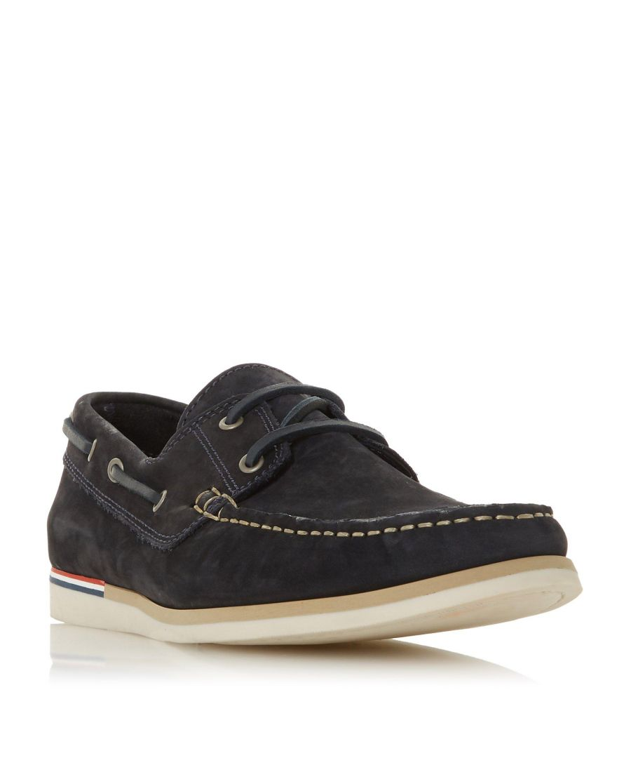 Image for Dune Mens BLAINESS Nubuck Boat Shoe
