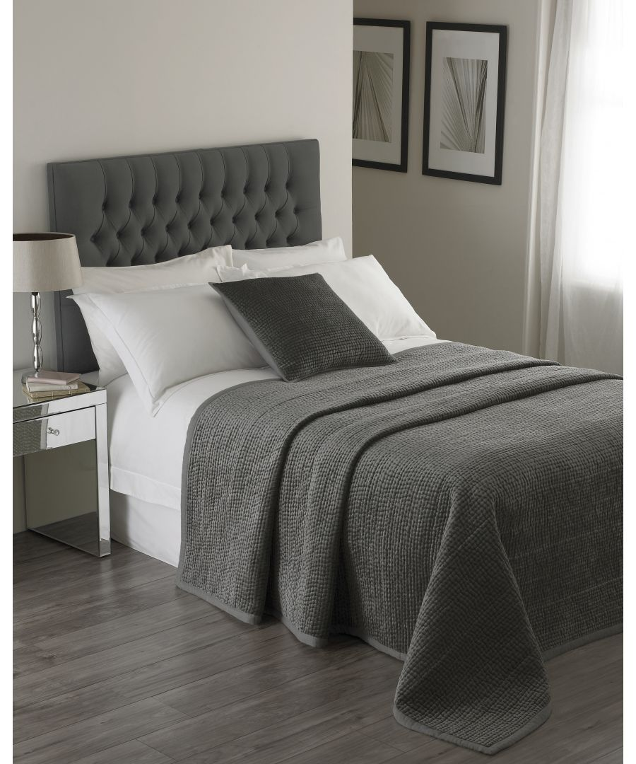 Image for Brooklands Bedspread Graphite
