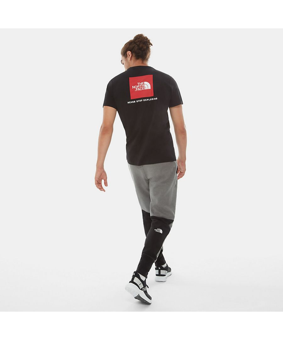 Image for The North Face Men's Redbox Tee, Black/Red