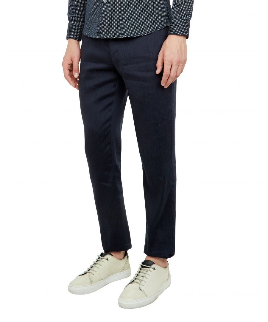 Image for Ted Baker Bluetro Linen Suit Trousers, Navy
