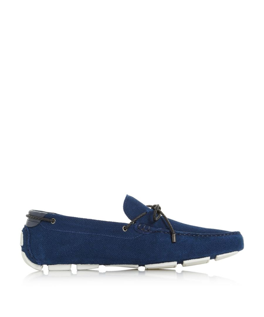 Image for Dune Mens BLUEWATER Embossed Plait Lace Driver Loafer