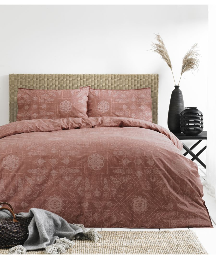 Image for Bohemian Duvet Set Red Clay