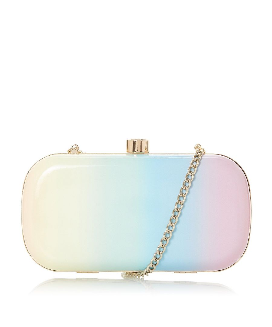 Image for Dune BONIQUE Pastel Ombre Rainbow Material Clutch Bag