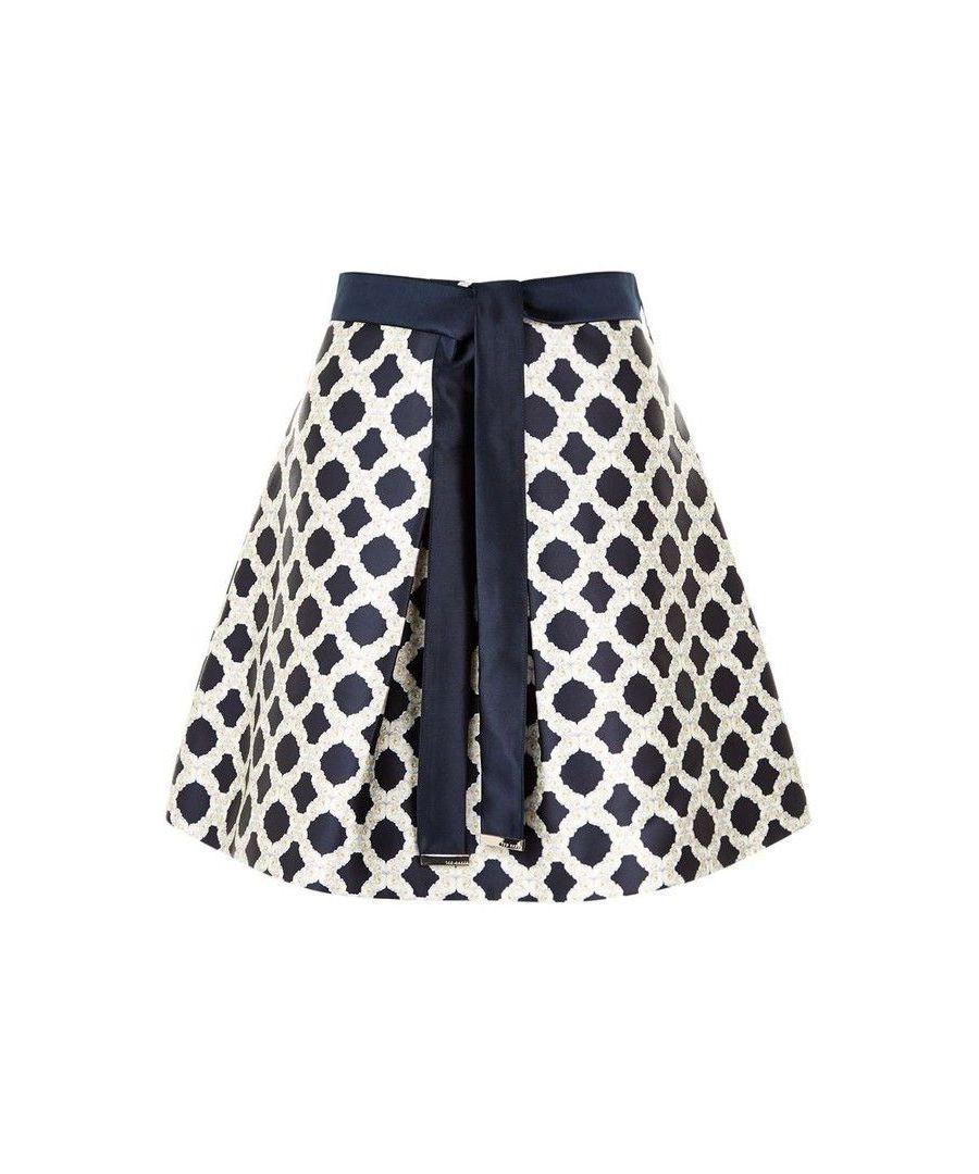 Image for Ted Baker Bonnee Blushing Bouquet Geo Mini Skirt, Navy
