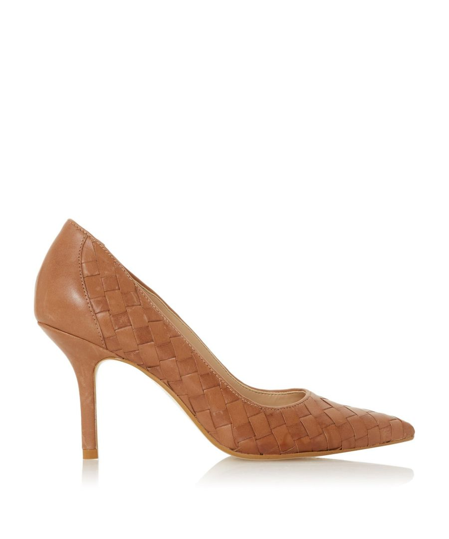 Image for Dune Ladies BOWE Woven Pointed Toe Mid Heel Court Shoes