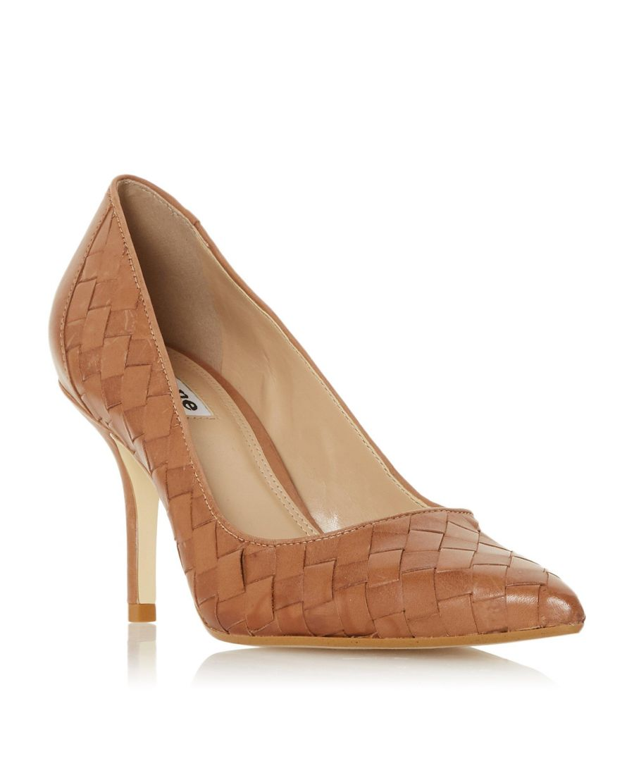 Image for Dune Ladies BOWE Woven Pointed Toe Mid Heel Court Shoe