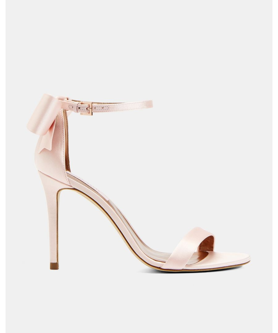 Image for Ted Baker Bowtifl Bow Heeled Sandals in Pale Pink