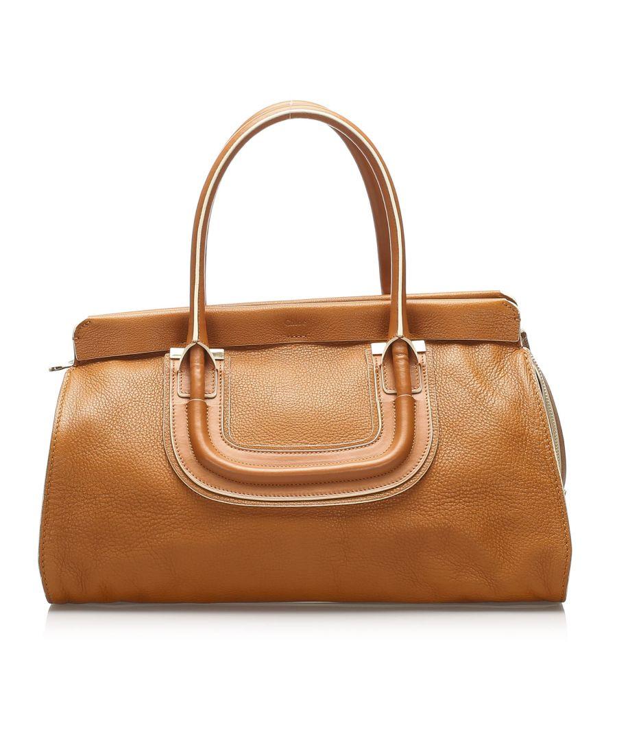 Image for Vintage Chloe Everston Leather Handbag Brown