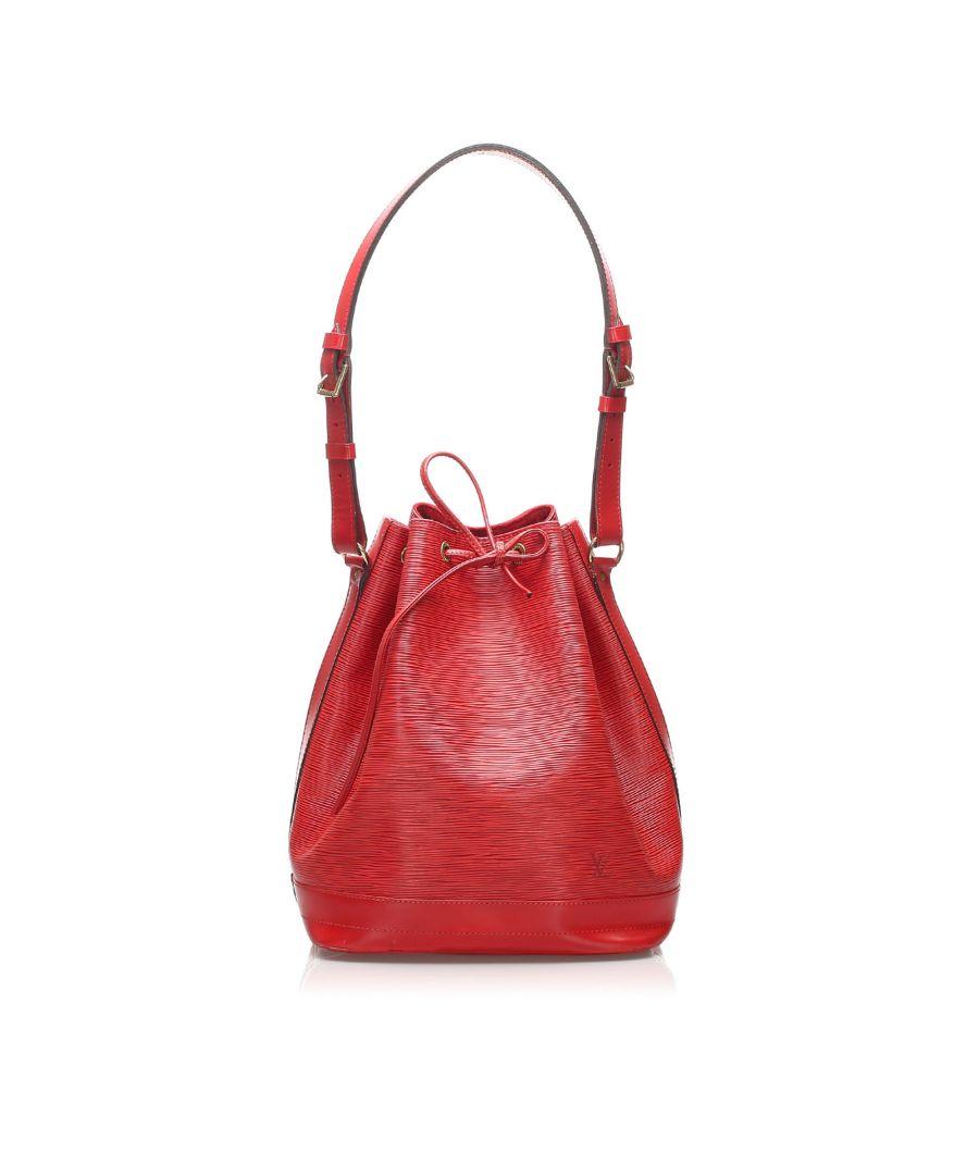 Image for Vintage Louis Vuitton Epi Noe Red