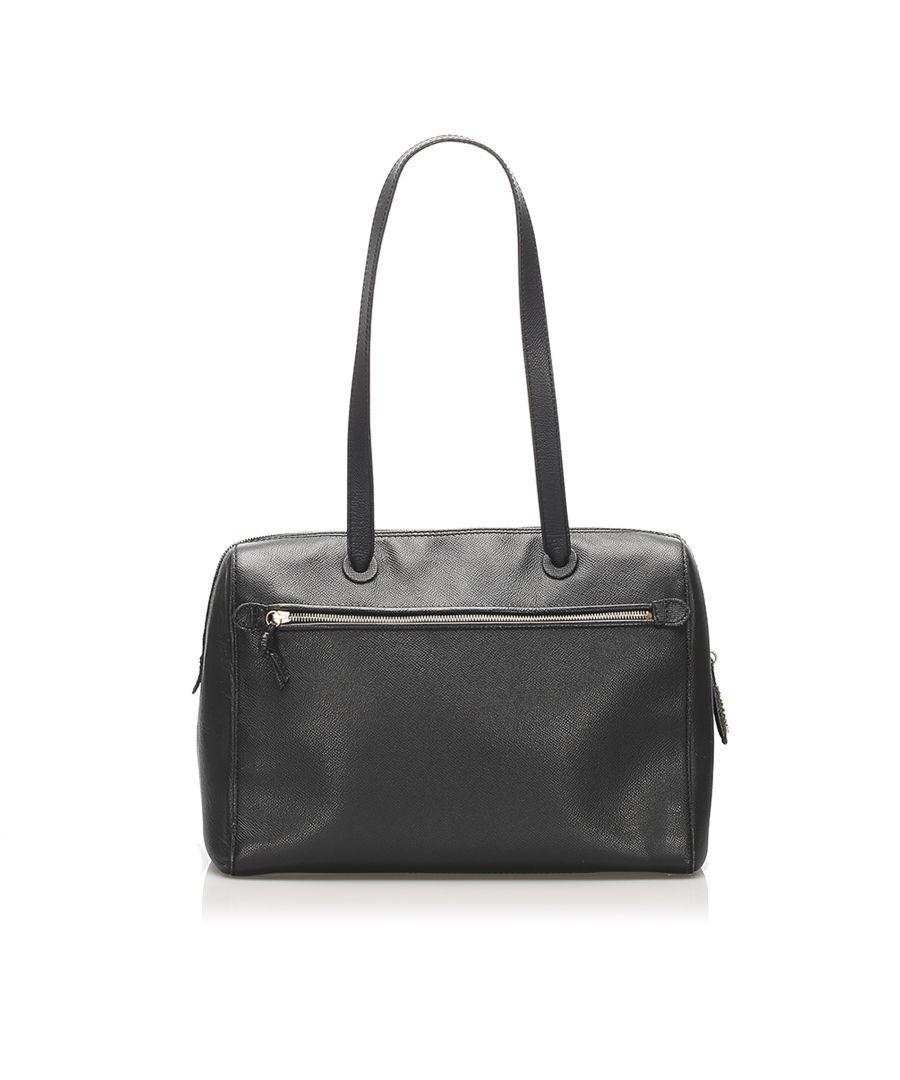 Image for Vintage Chanel Caviar Leather Shoulder Bag Black