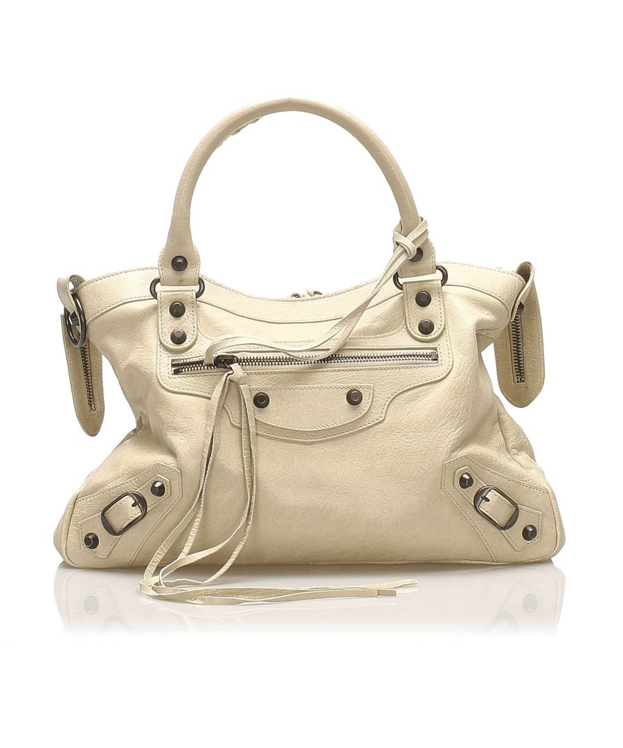 Image for Balenciaga Motocross Classic Town Leather Satchel