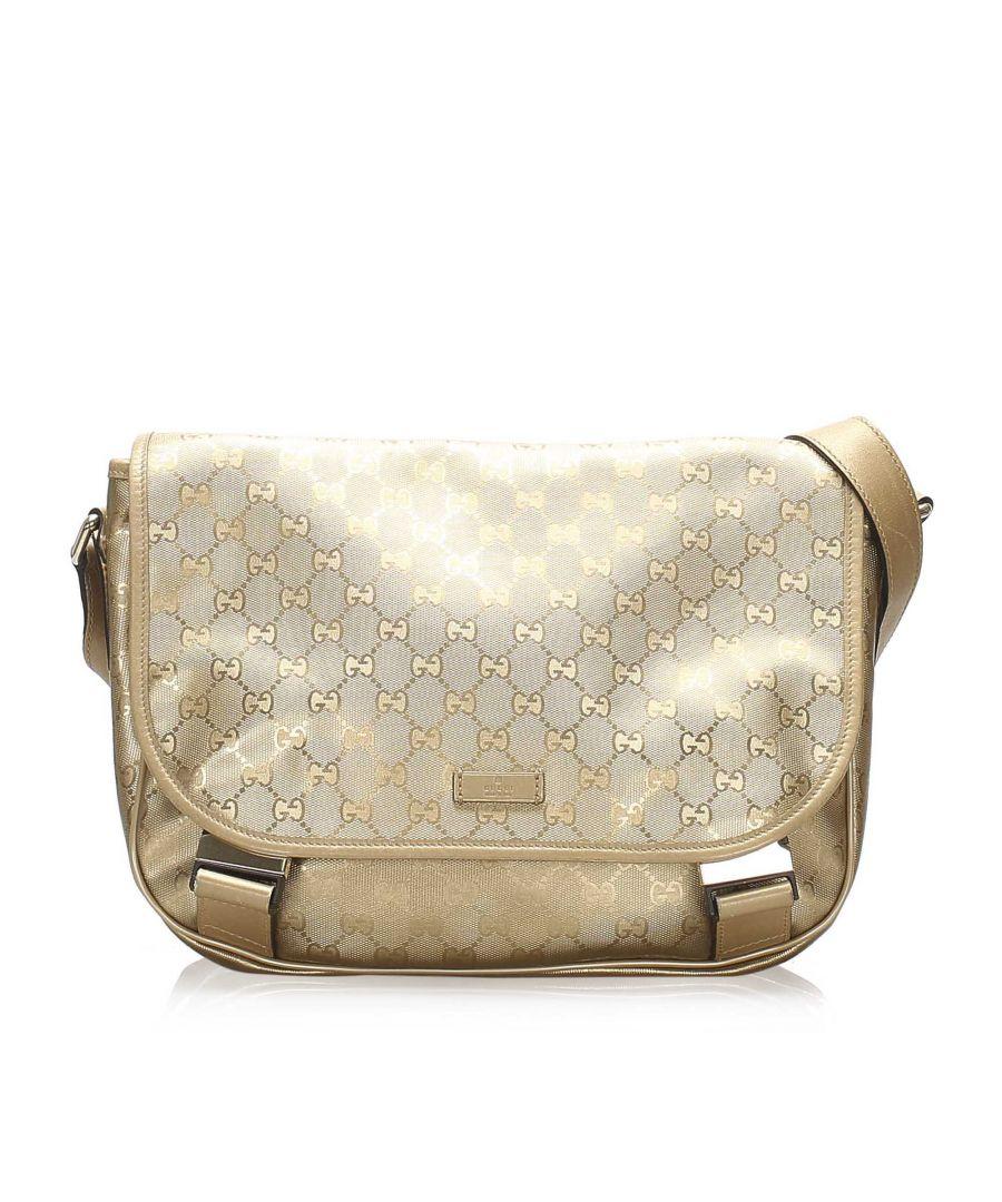 Image for Vintage Gucci GG Imprime Crossbody Bag Gold