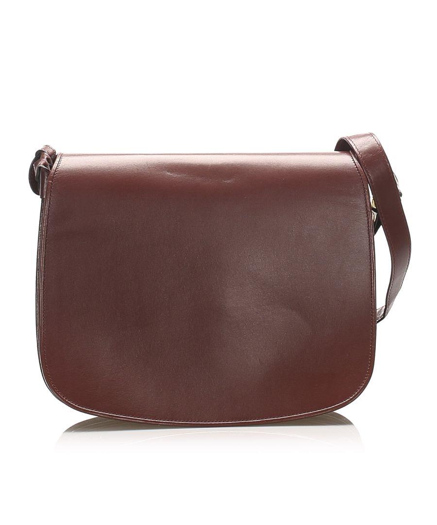 Image for Vintage Cartier Must de Cartier Leather Shoulder Bag Red