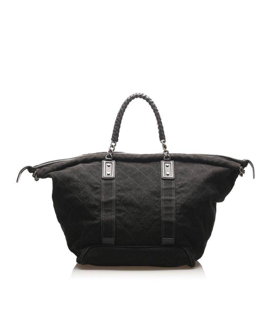 Image for Vintage Chanel Timeless Canvas Travel Bag Black