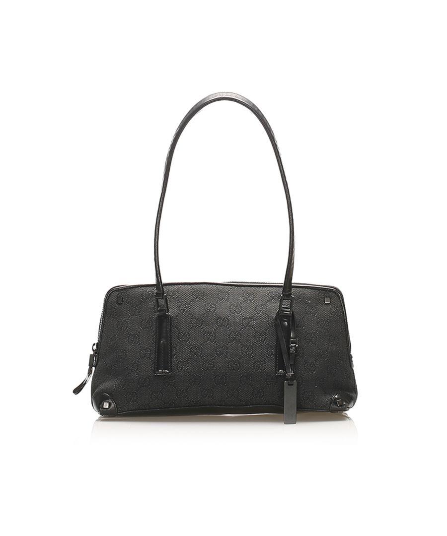 Image for Vintage Gucci GG Canvas Shoulder Bag Gray