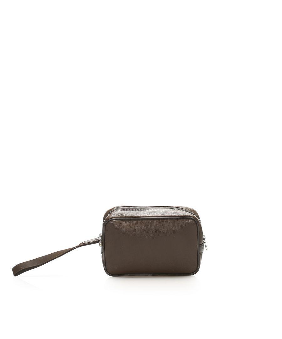 Image for Vintage Louis Vuitton Taiga Kaluga Clutch Brown
