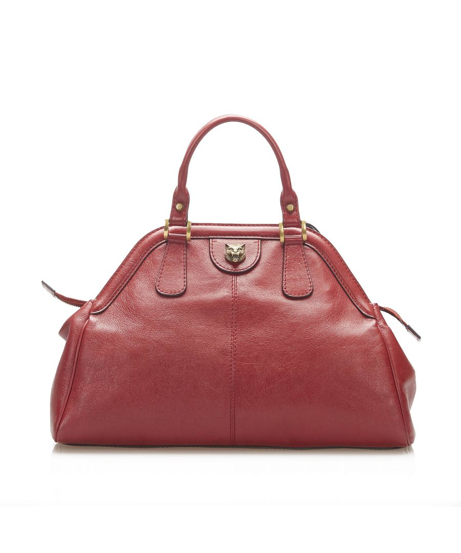 Image for Vintage Gucci ReBelle Leather Satchel Red