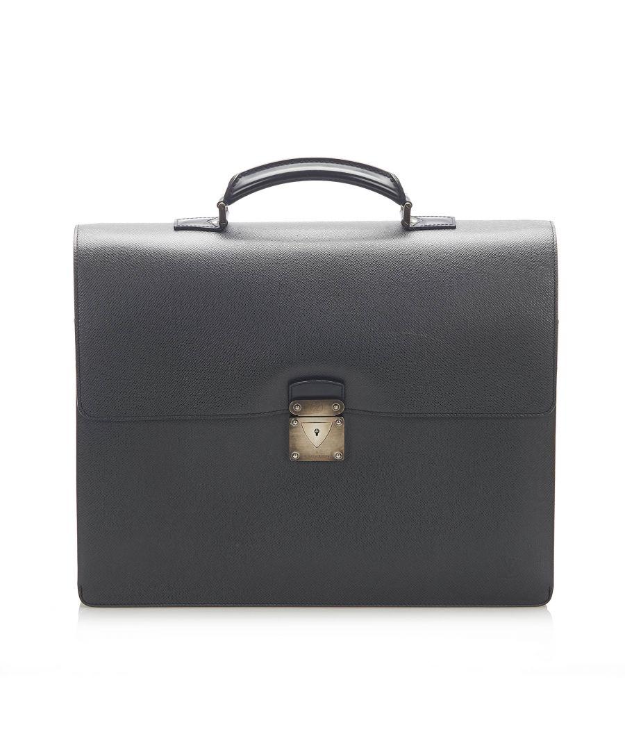 Image for Vintage Louis Vuitton Taiga Robusto 1 Briefcase Black