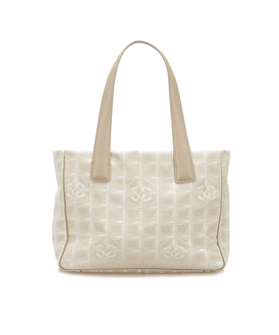 Image for Vintage Chanel New Travel Line Canvas Tote Bag Brown