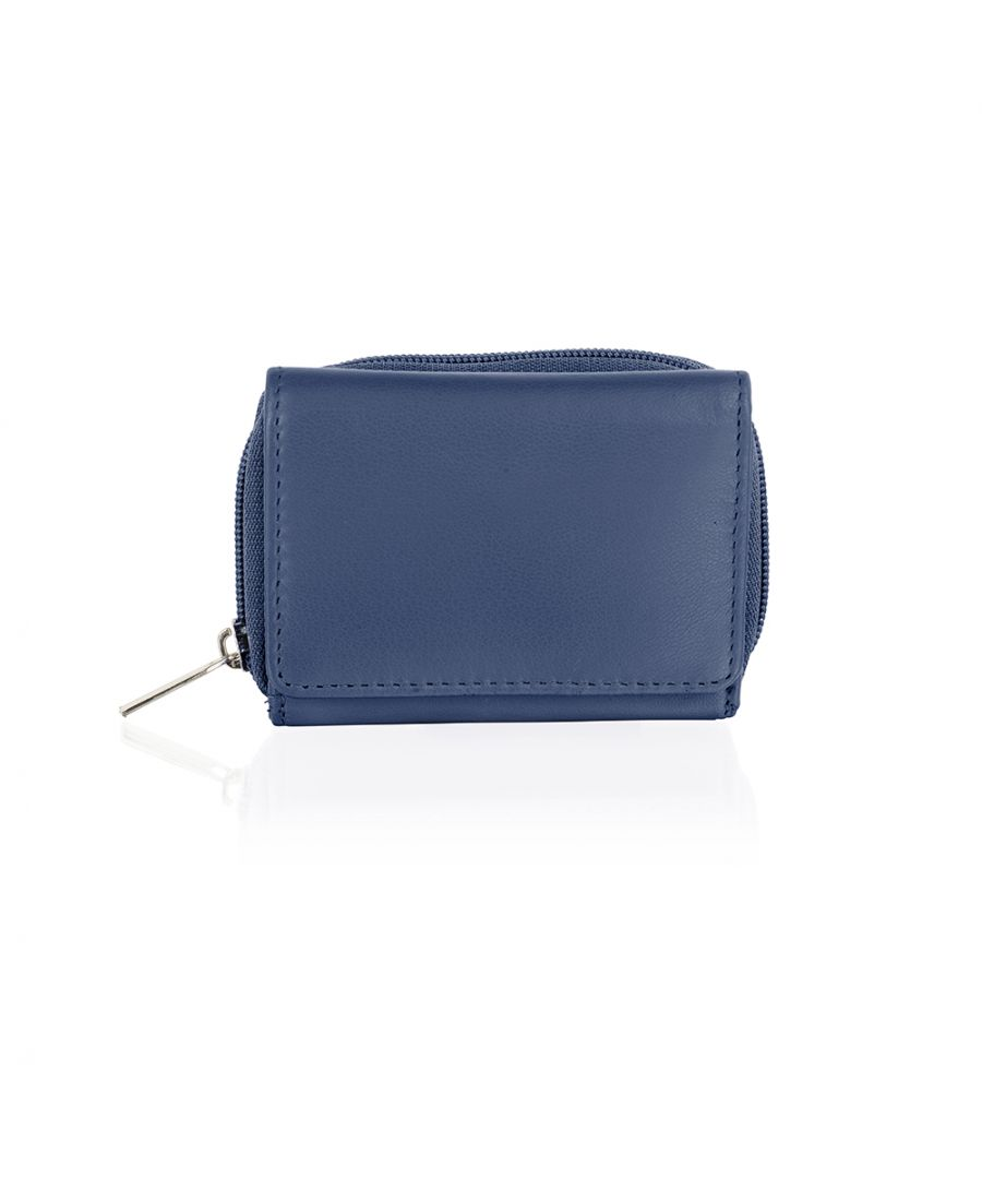 Image for Genuine smooth leather compact organiser purse wallet by Woodland Leathers
