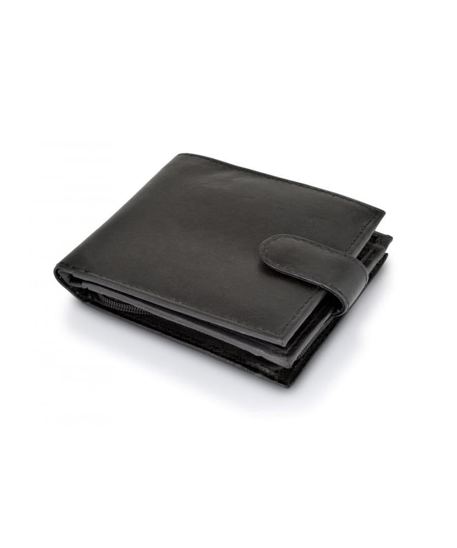 Image for Woodland Leather Black Bi Fold 4.5