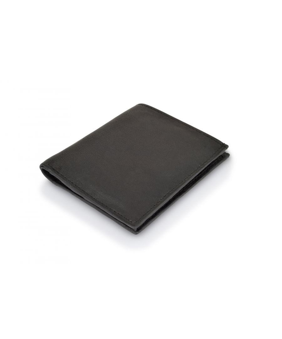 Image for Woodland Leather Black 8 Credit Card Slot RFID Bi Fold Wallet