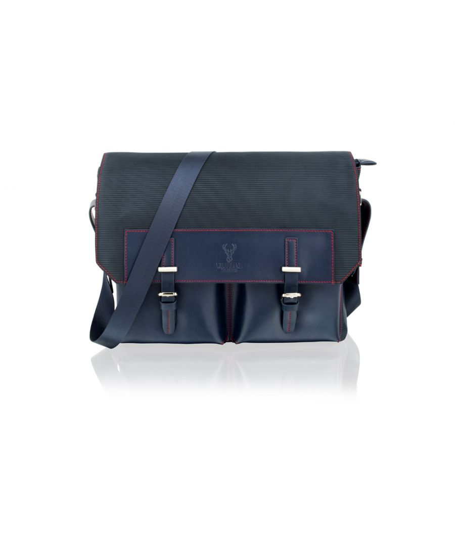 Image for Woodland Leather Navy 14.0