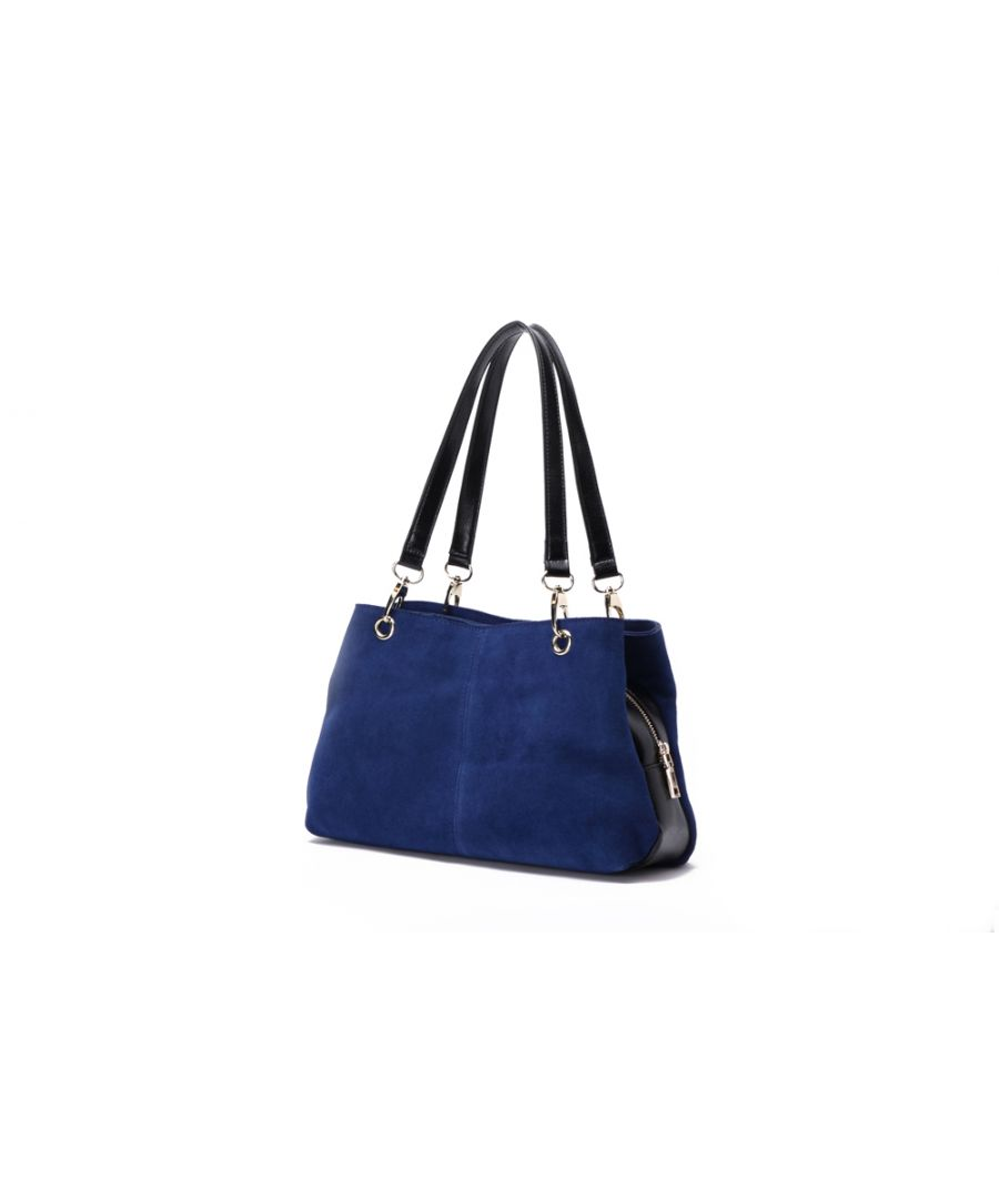 Image for Woodland Leather Navy Suede Twin Handle Central Compartment 12.0