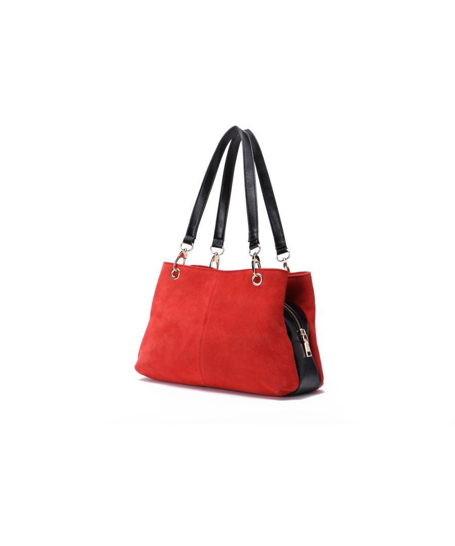 Image for Woodland Leather Red Suede Twin Handle Central Compartment 12.0