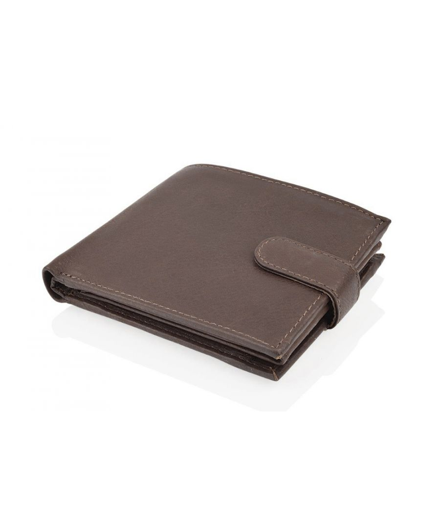 Image for Woodland Leather Brown Bi Fold 4.5