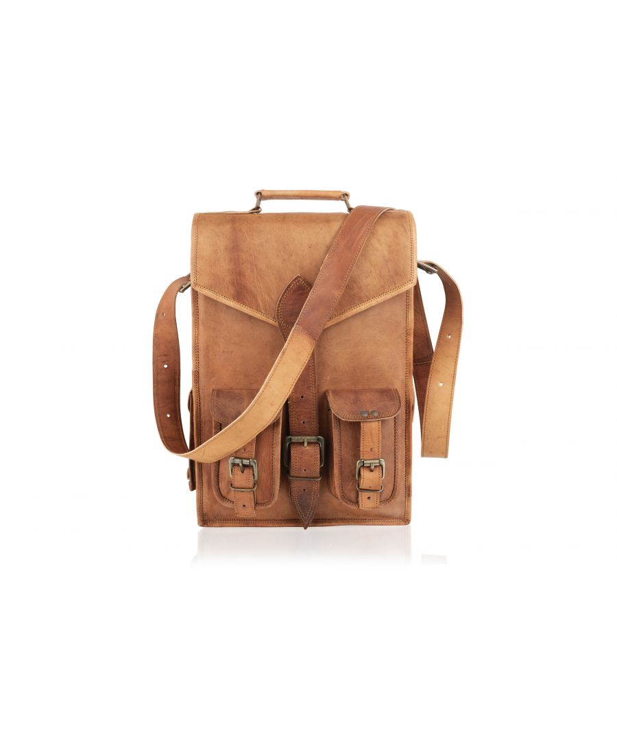 Image for Woodland Leather Tan Vintage 18