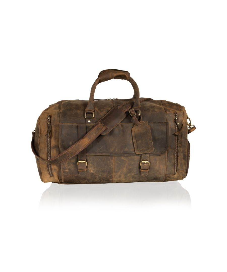 Image for Woodland Leather Brown Holdall 20.0