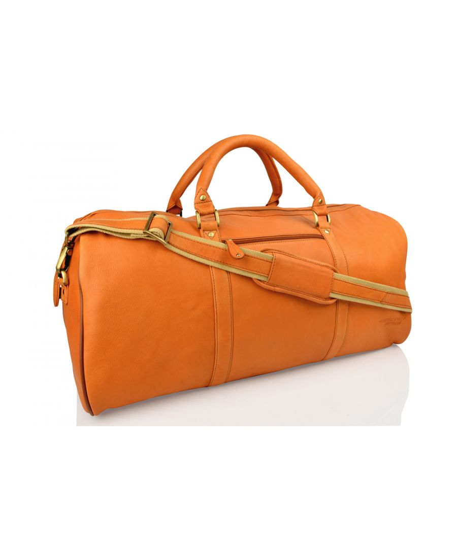 Image for Woodland Leather Tan Large Size Travel Holdall 24.0