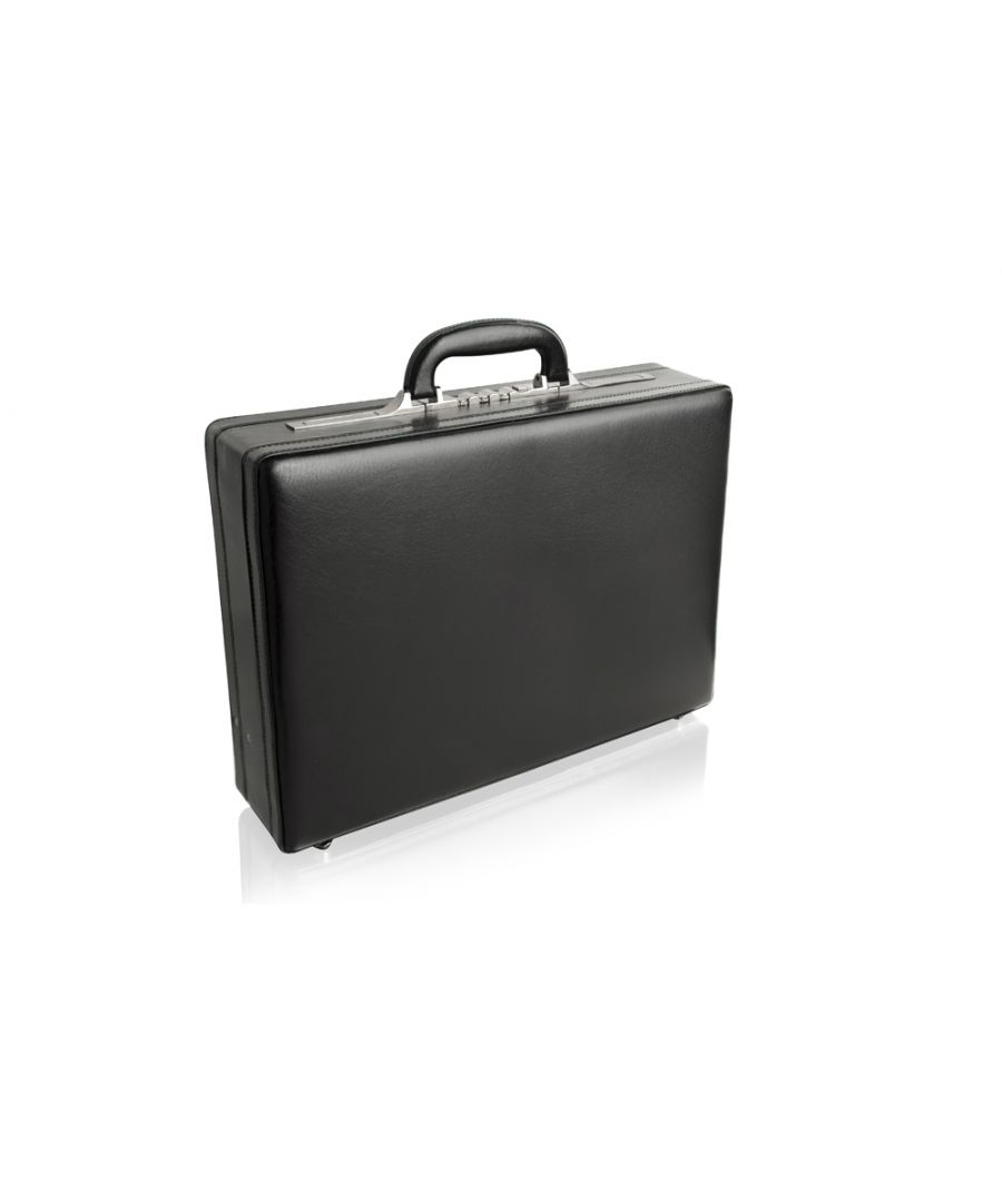 Image for Woodland Leather Black Bonded Attache 18