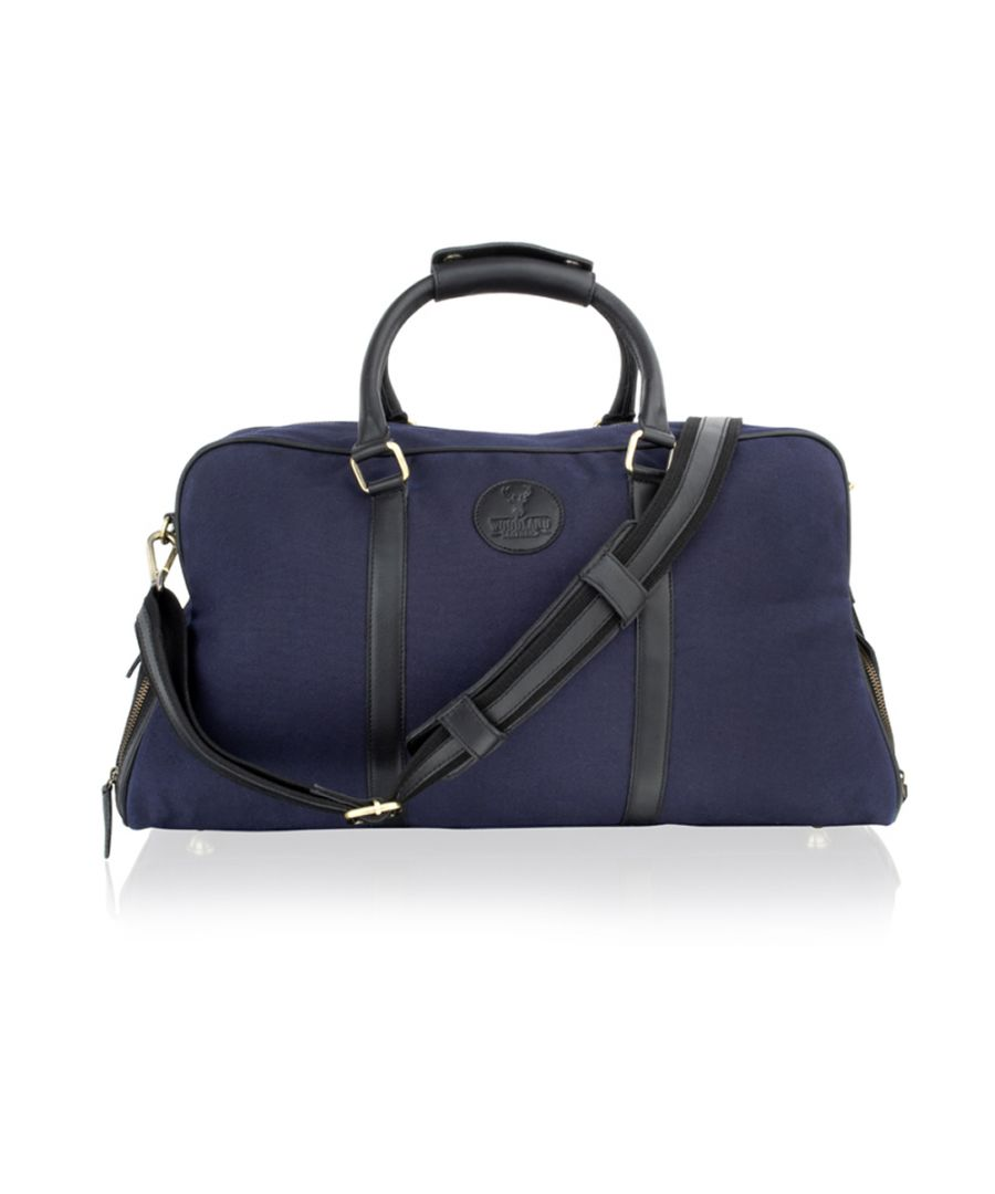 Image for Woodland Leather Blue With Black Leather Large 20.0