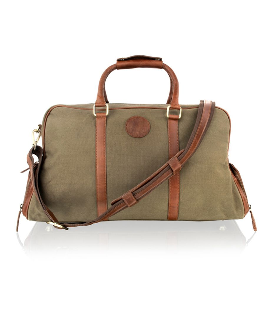 Image for Woodland Leather Khaki With Tan Leather Large 20.0