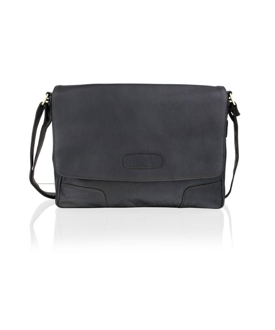 Image for Woodland Leather Brown Portrait Messenger Bag 11.0