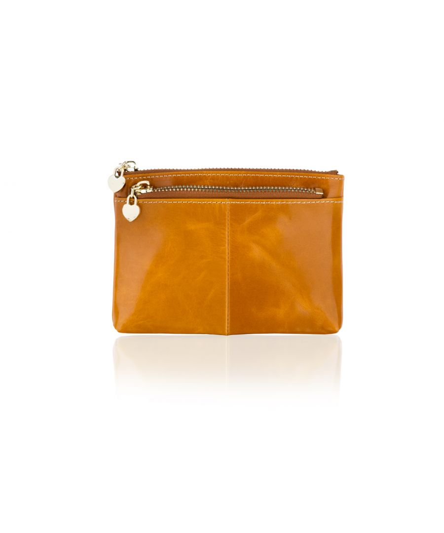Image for Woodland Leather Coffee Card Holder Coin Purse 4.0