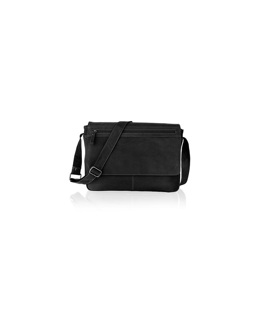 Image for Men's Texan Retro Leather Messenger Bag, Men's Shoulder Bag