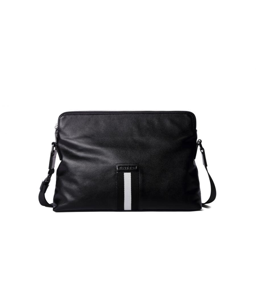Image for Hautton Leather Black Landscape Plain Style Bag 12.5