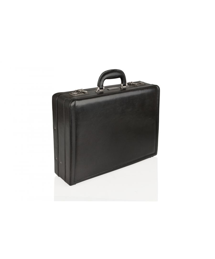 Image for Woodland Leather Black Attache 18