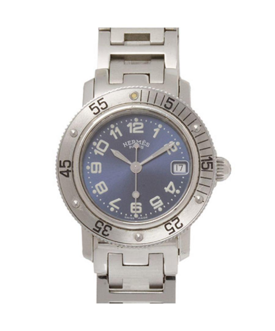Image for Vintage Hermes Clipper Diver Watch Silver