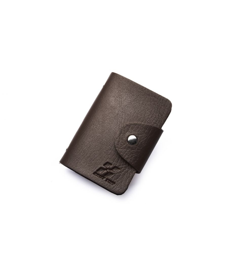 Image for Hautton Black 24 Credit Card Wallet Stud Front