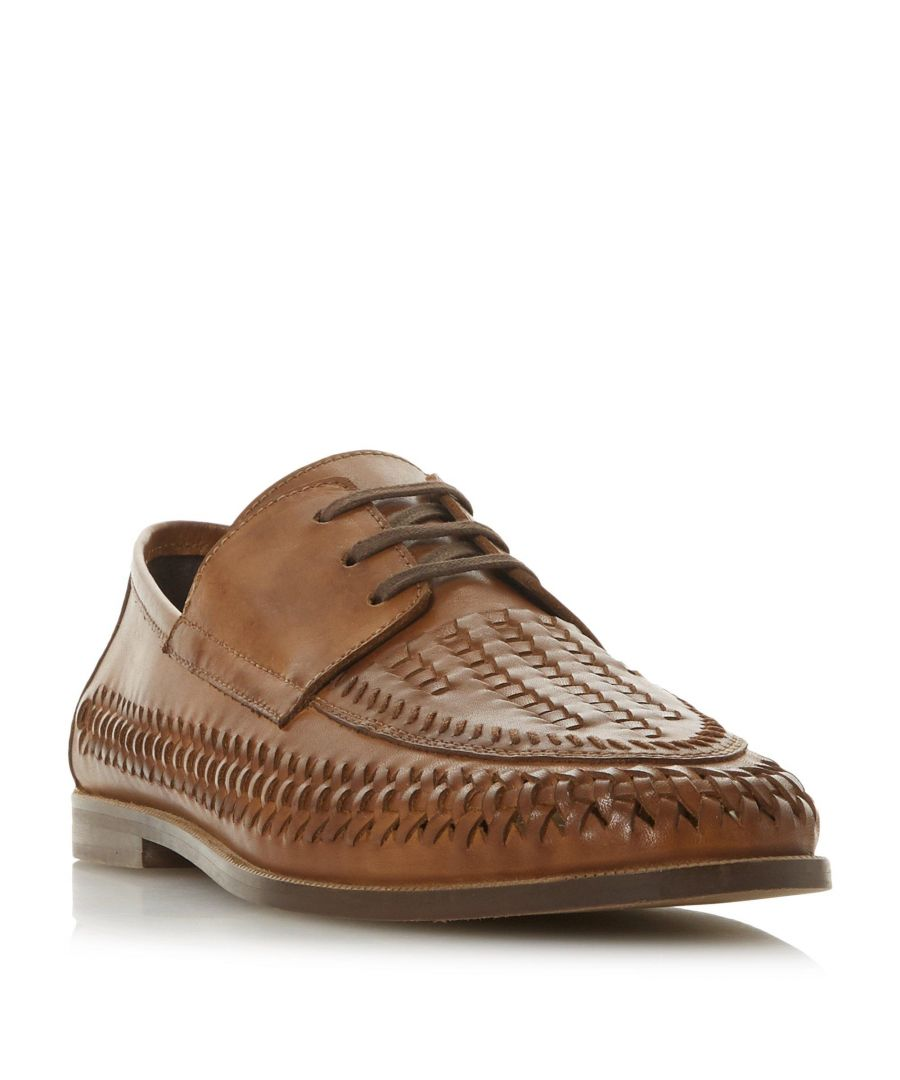 Image for Dune Mens BRIGADE Lace Up Woven Loafer