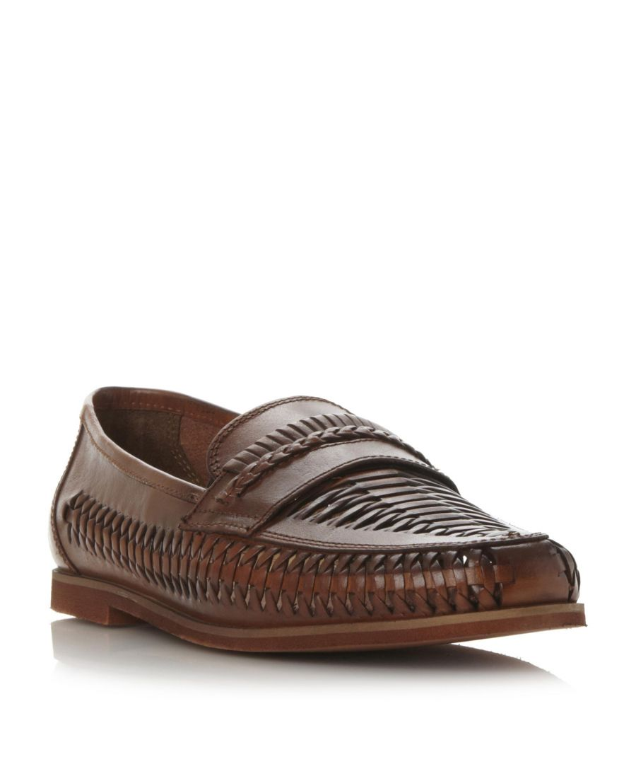 Image for Dune Mens BRIGHTON ROCK Woven Leather Loafer