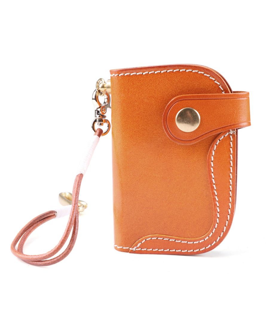 Image for Women's Leather Keychain and Card Holder Wallet